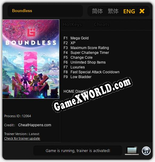 Boundless: Трейнер +9 [v1.7]