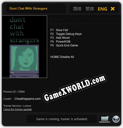 Dont Chat With Strangers: Читы, Трейнер +5 [dR.oLLe]