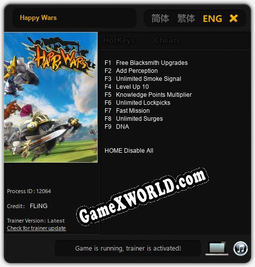Happy Wars: Читы, Трейнер +9 [FLiNG]